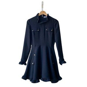 JW Anderson Ruffle Trim Fit-&-Flare Dress